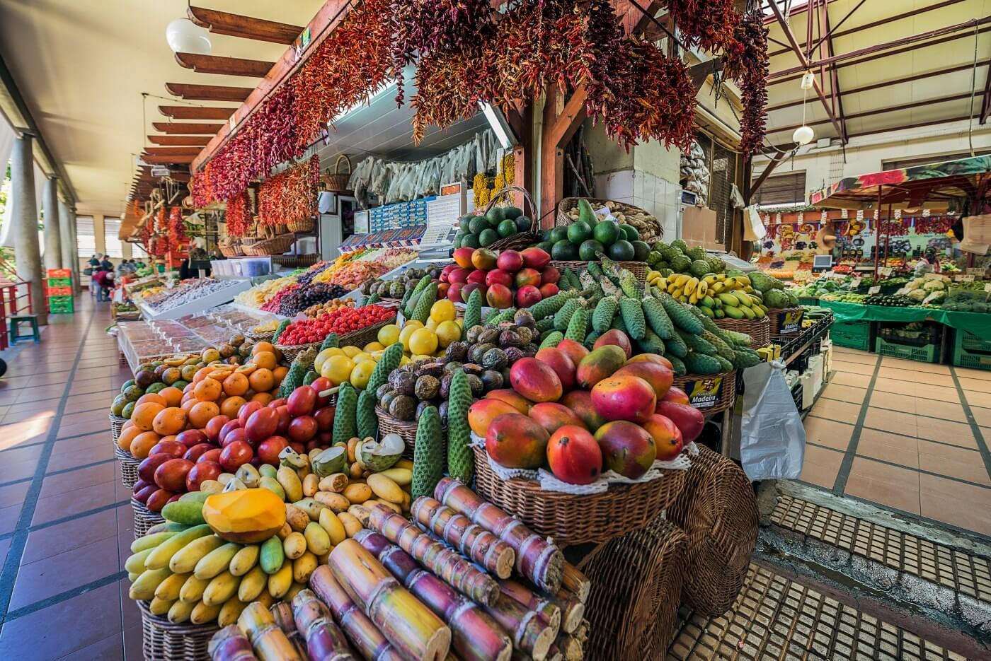 Mercado dos Lavradores Ilha da Madeira