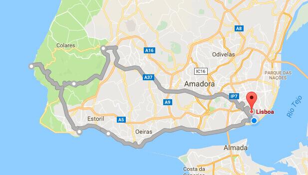 Tour Sintra, Cabo da Roca e Cascais   Itinerário
