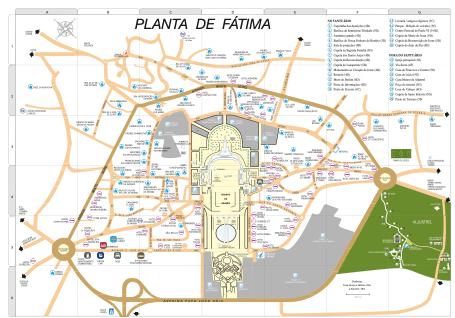 Planta do Santuário de Fátima | Guia de Fátima