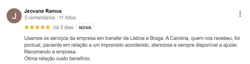 Depoimentos Clientes Bem-vindo a Lisboa | Jeovane Ramos